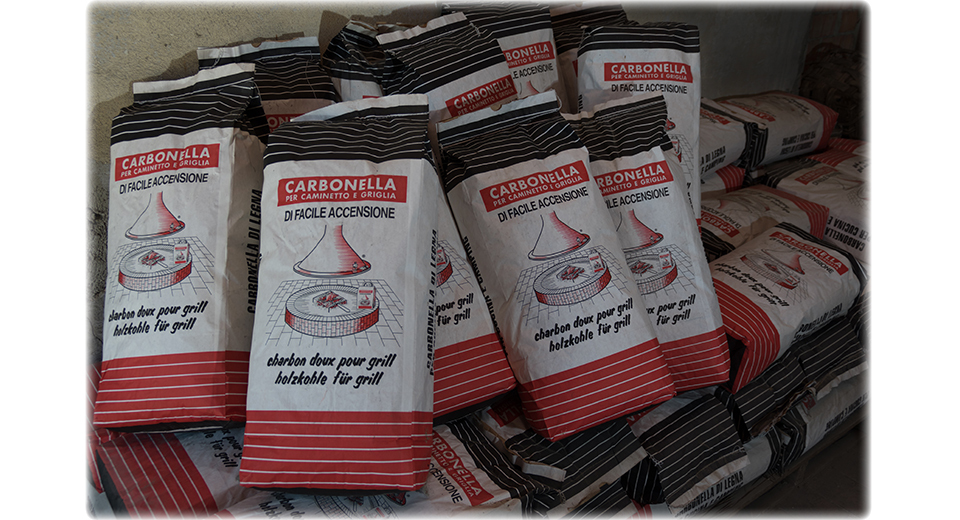 Carbonella per griglia