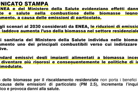 ENEA studio Inquinamento Biomasse Petrolgas