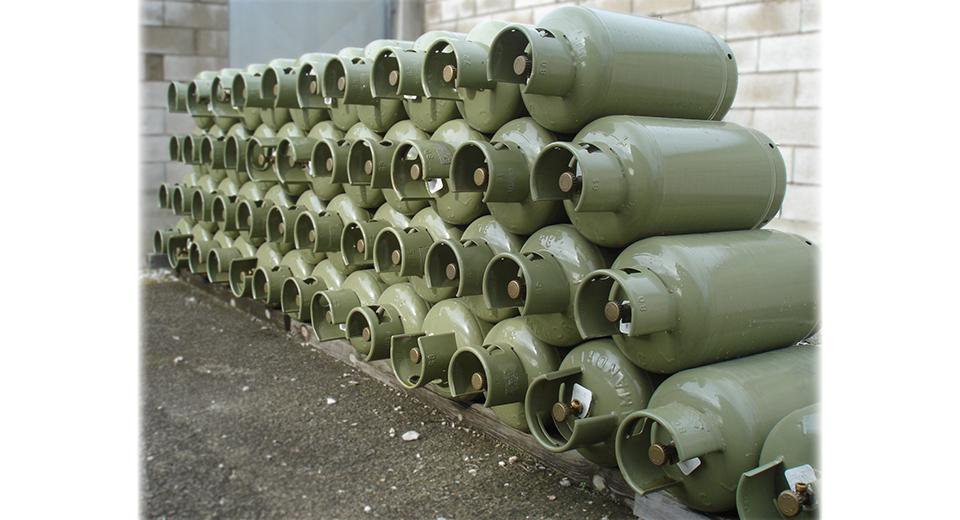 Magazzino bombole gas gpl