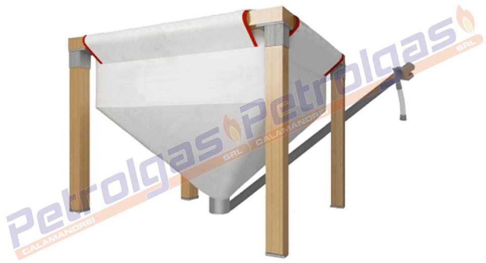Contenitore Pellet Tela in legno