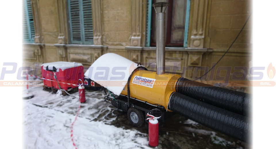 Generatore aria calda indiretta a gasolio_Petrolgas 150kw kerosene